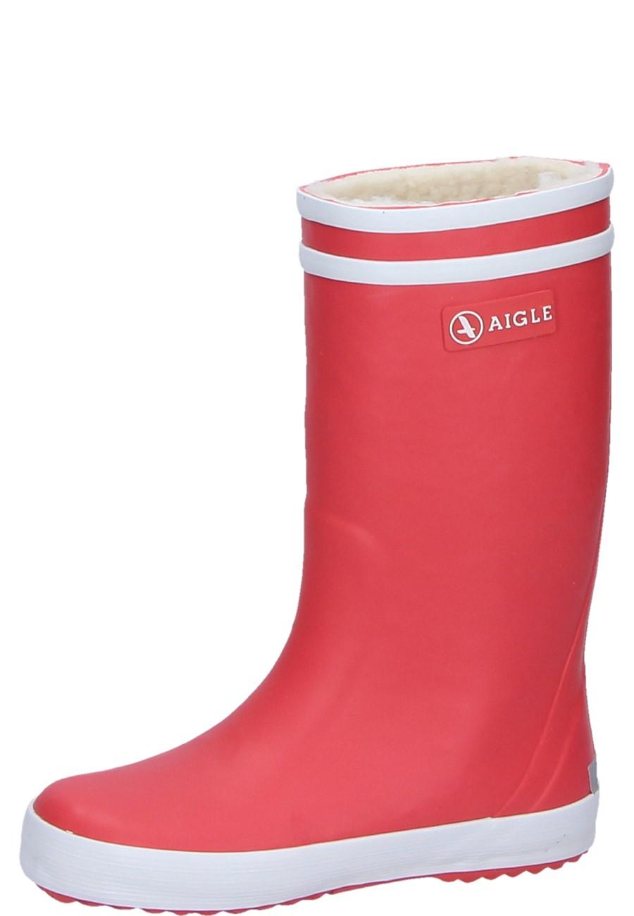 Child s winter rubber boots Lolly Pop Fur camelia of Aigle 3531918ec4a