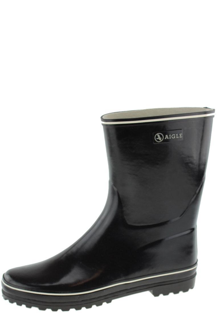 venise bottillon noir- short stylish women's rubber boots