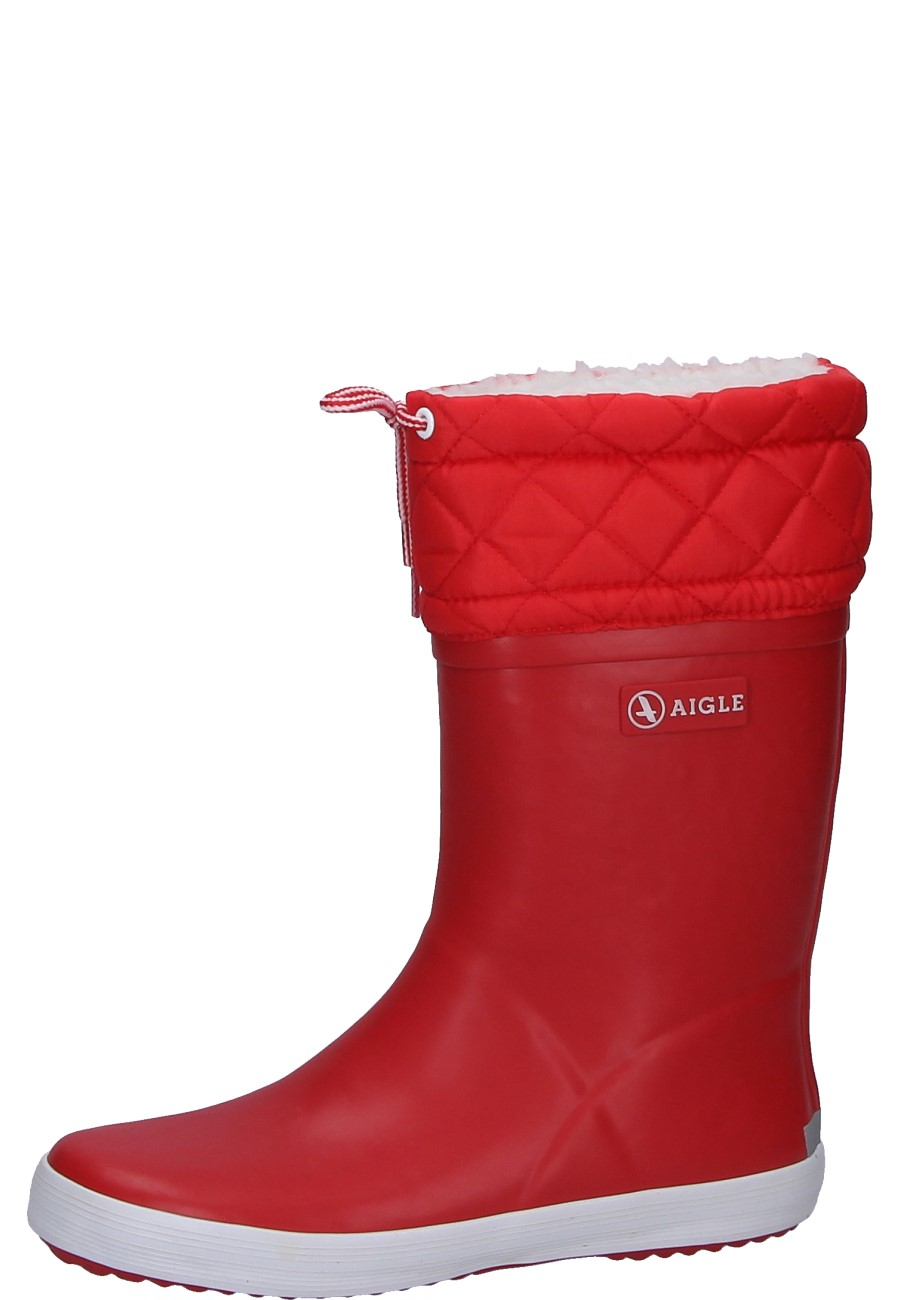 Aigle -GIBOULEE red- Children's Rubber