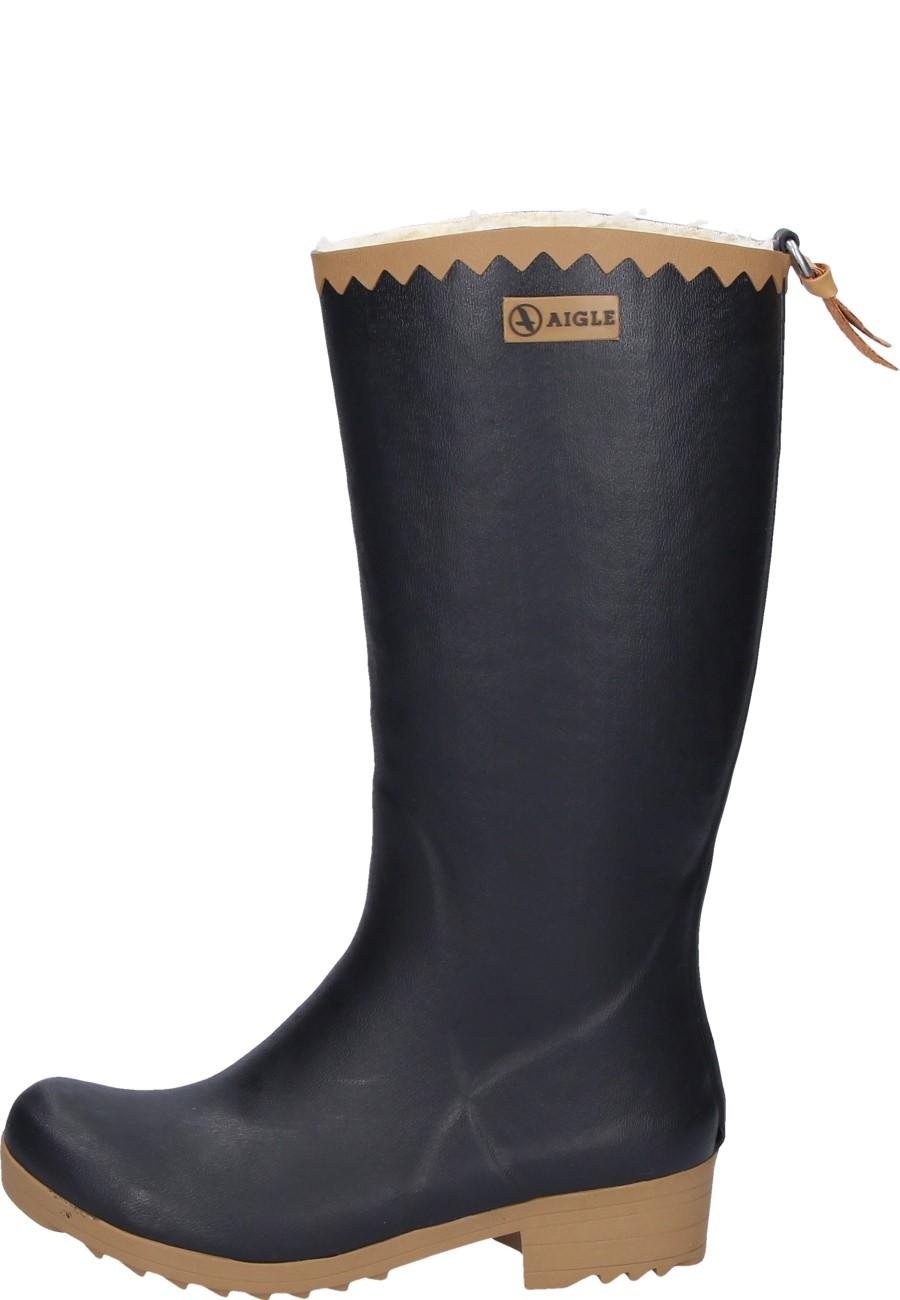 Aigle VICTORINE FUR noir Women's Rubber Boots