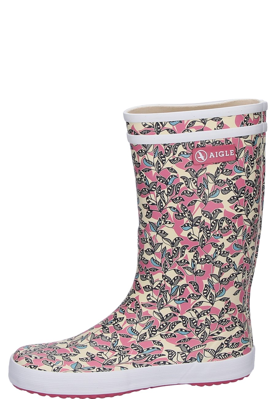 84c5e7ba8 Lolly Pop Glit malaga/stripyflow rubber boots for kids by Aigle