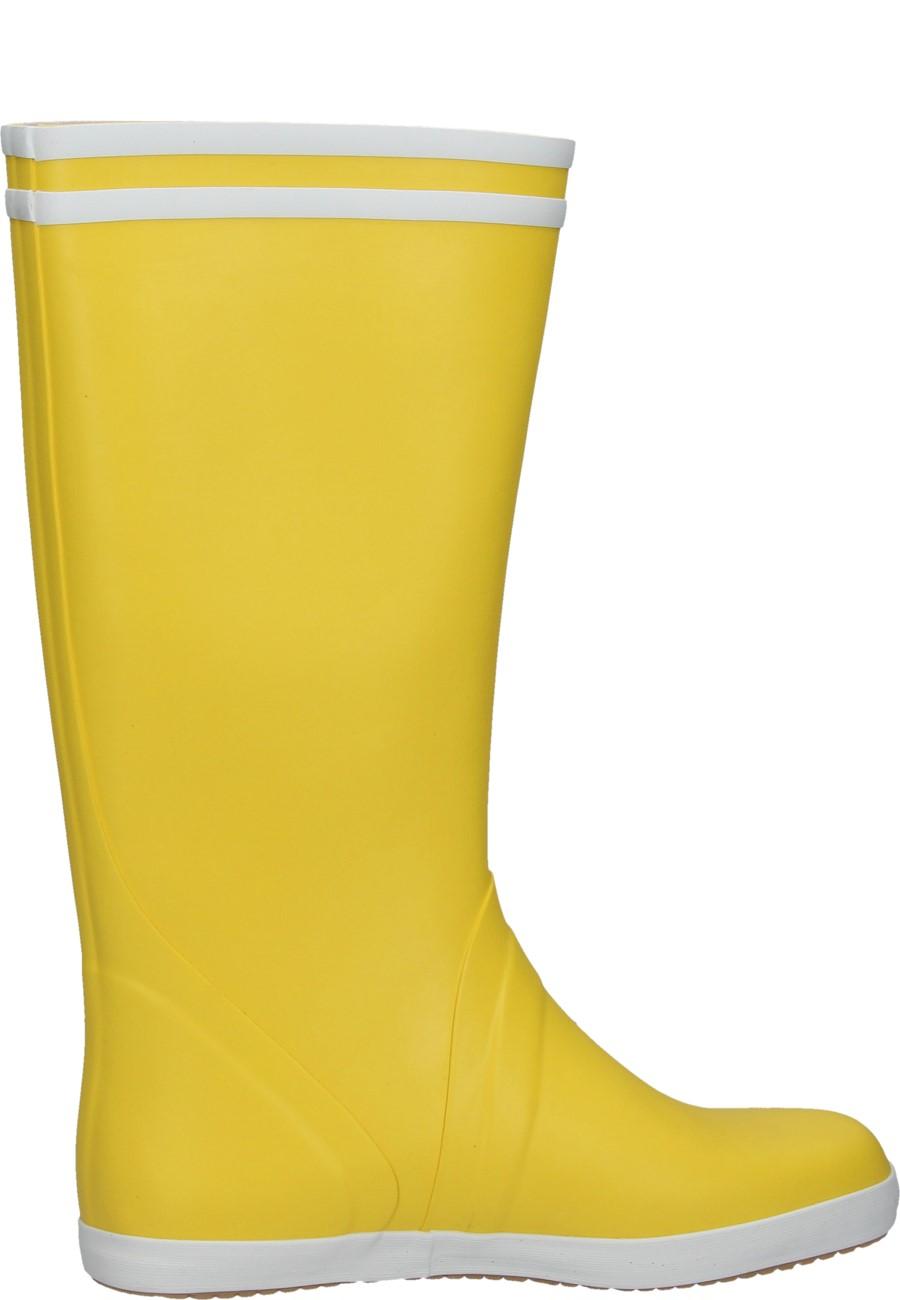 Coast Rubber Boots Goeland Jaune Blance Of The Label Aigle