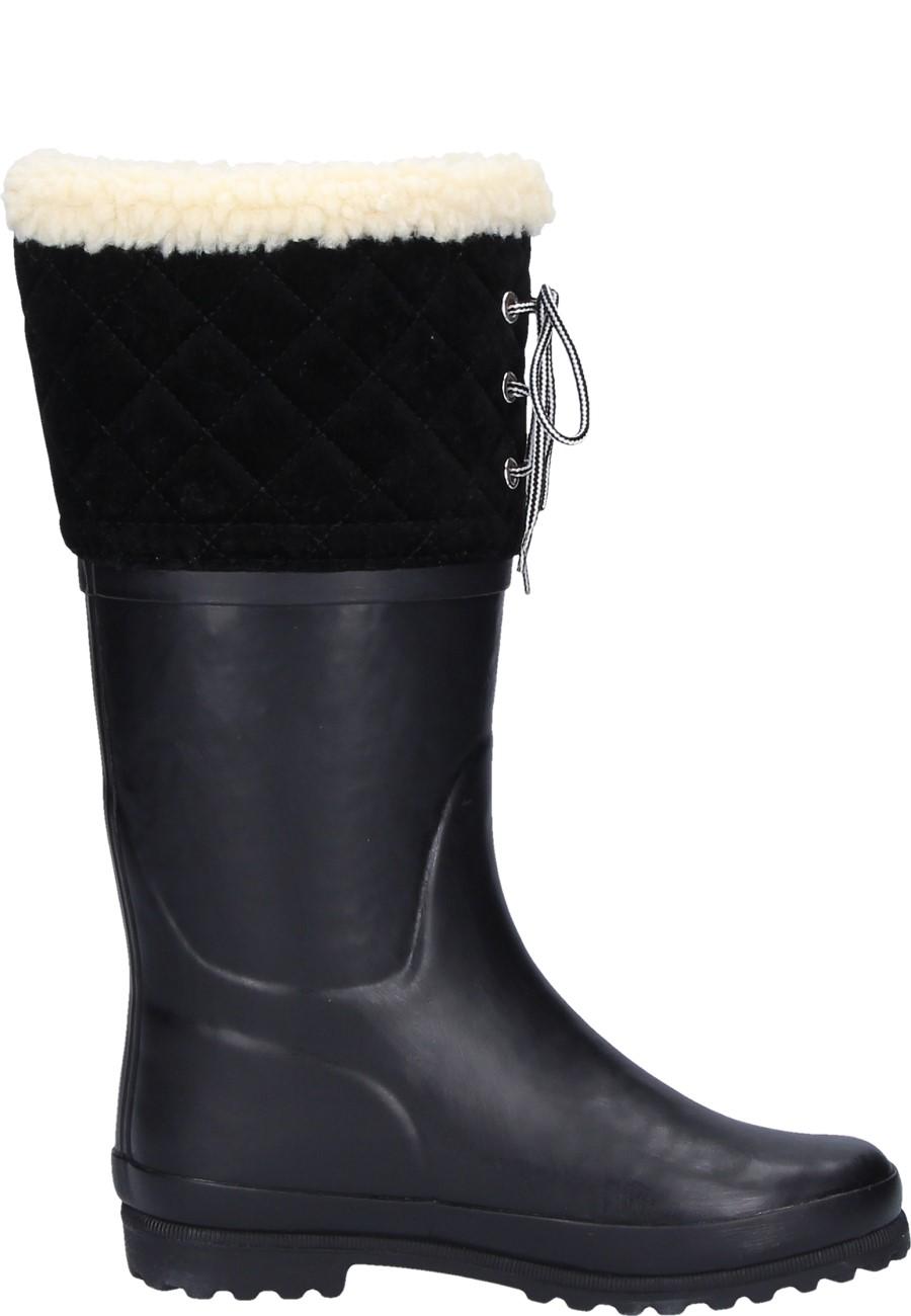 Polka Giboulee New Noir Women S Winter Rubber Boots