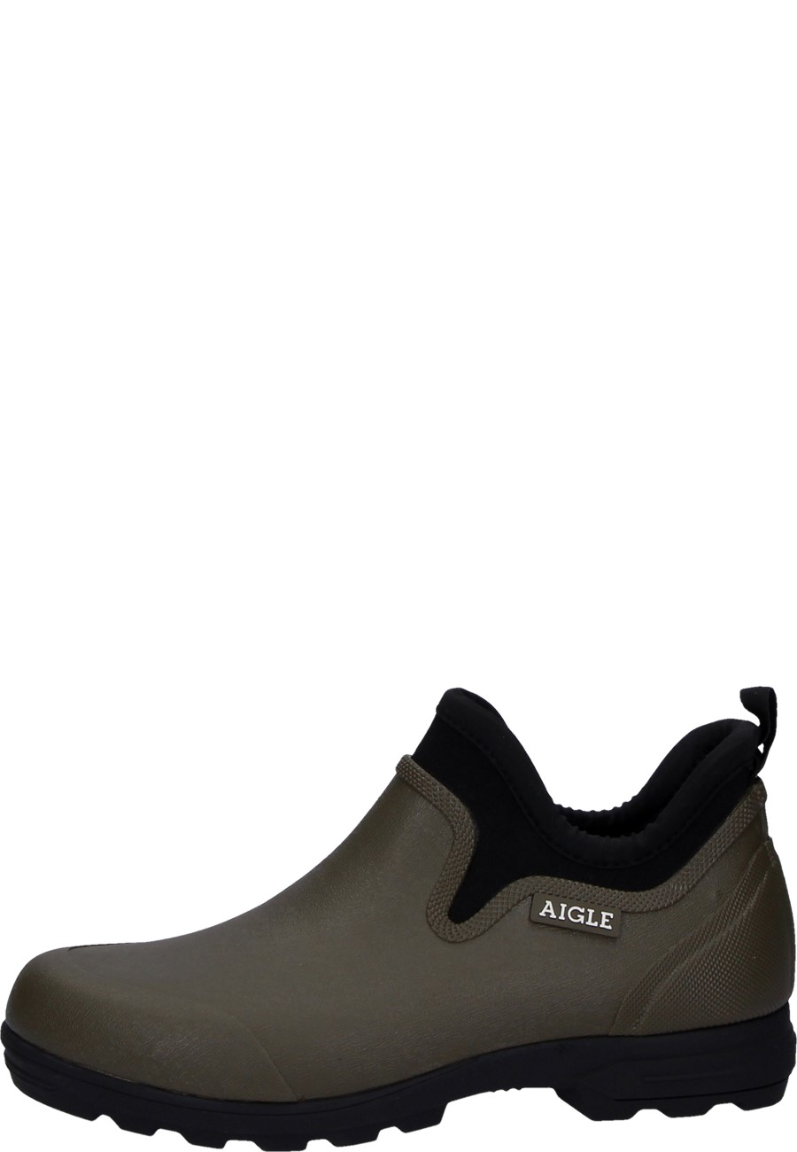 5dc201e080f Aigle rubber ankle boots LESSFOR PLUS M khaki