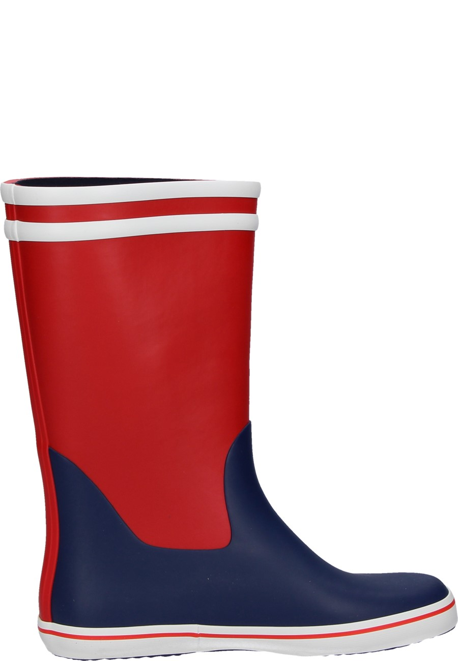 Malouine Col Rouge Indigo Blanc Rubber Boots By Aigle