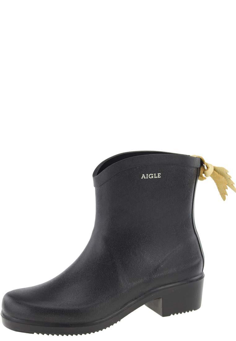 Aigle Miss Juliette Black Ankle Rubber Boots A