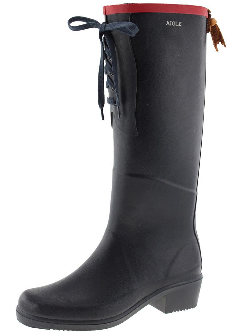 new arrival ae7a1 e5faa Aigle -MISS JULIETTE L marine/red- Rubber Boots - feminine, cheeky, Aigle  quality