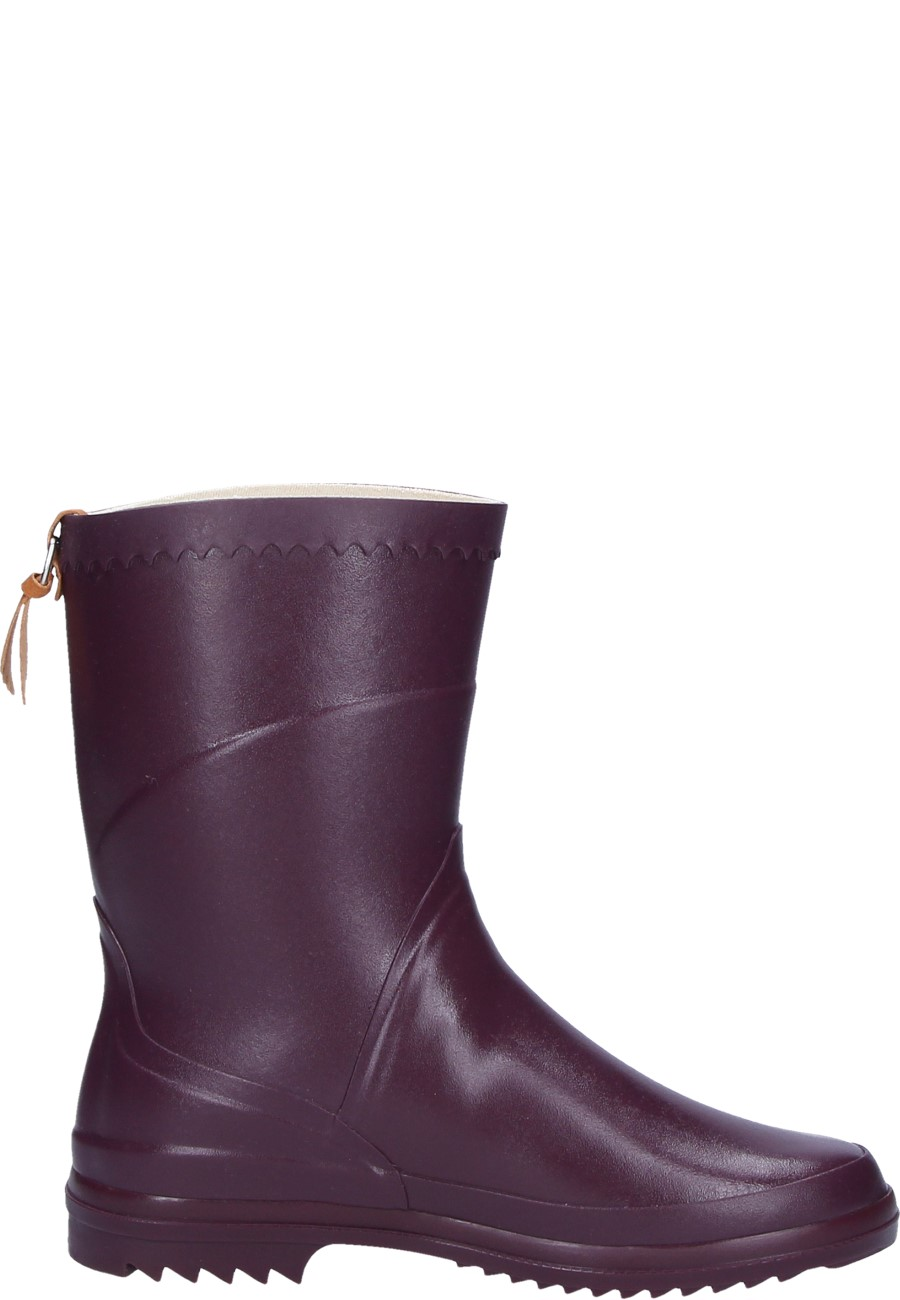 Aigle Bison Lady Aubergine Rubber Boots A Half Height