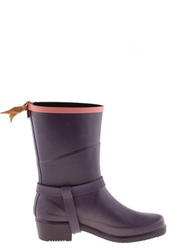 Aigle Miss Julie Aubergine Rubber Boots A Stylish