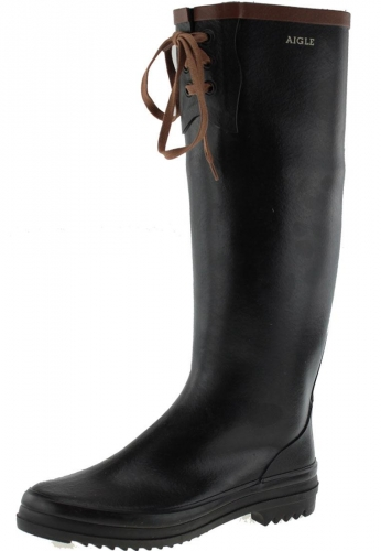 Miss Marion Noir Ambre Rubber Boot By Aigle
