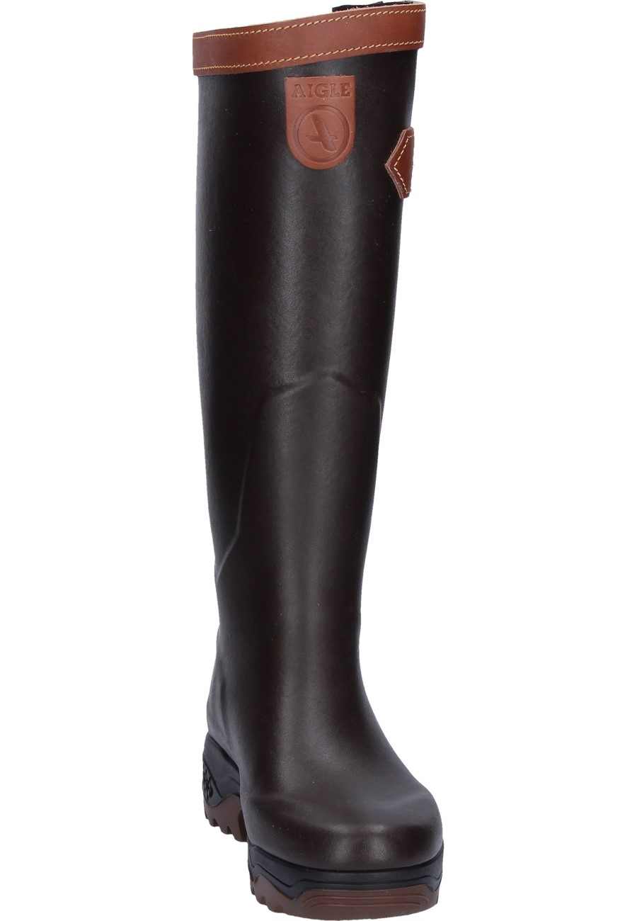 Aigle Parcours 2 Signature Rubber Boots In Brown A