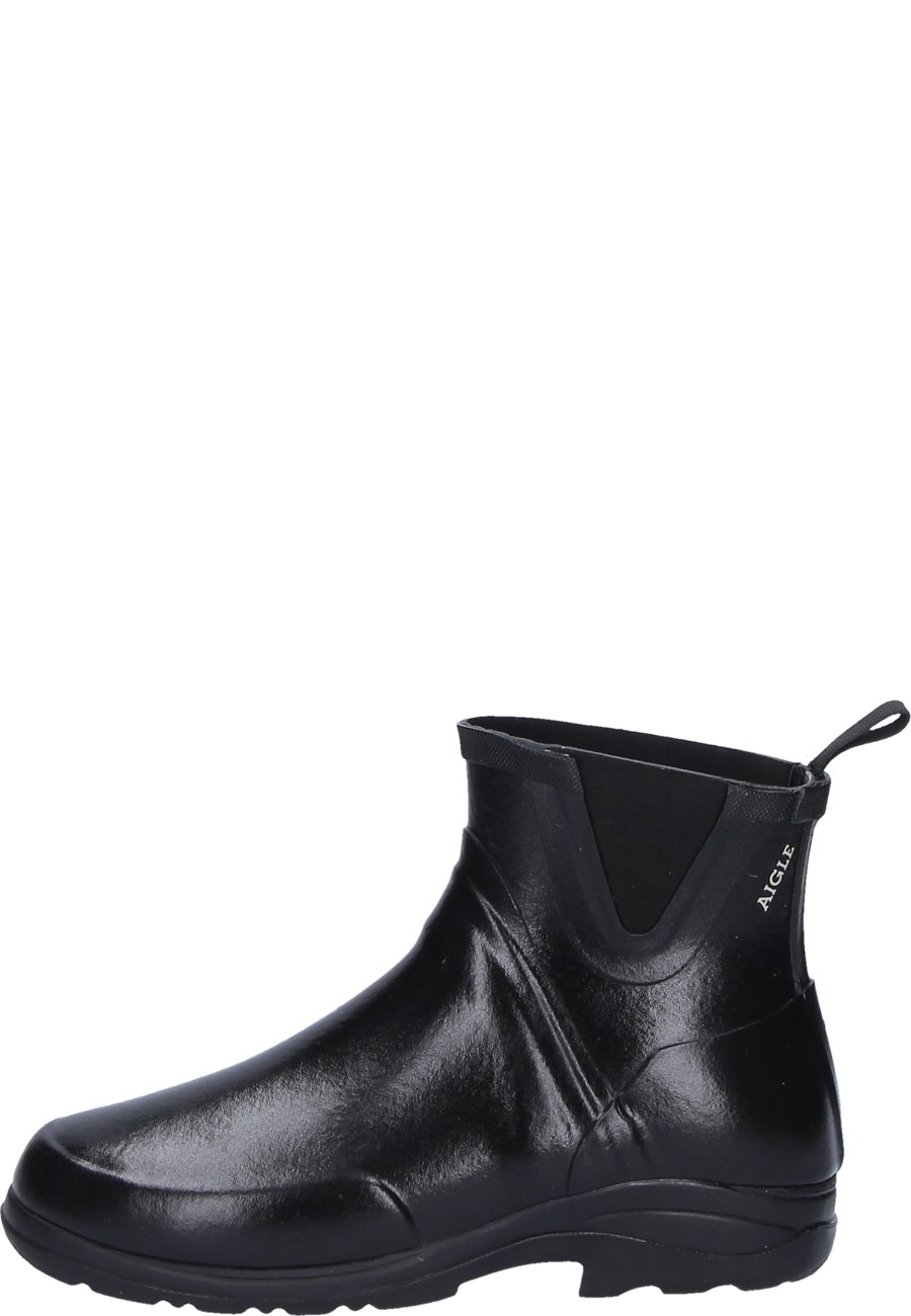 adc228c44bd Aigle DAINTREE black unisex ankle rubber boot