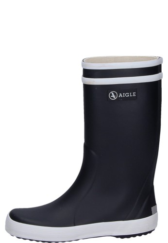 Aigle Lolly Pop Rubber Boots In Navy Blue A Functional