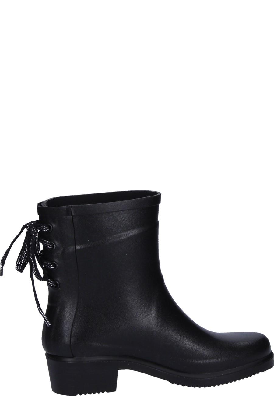 Women S Rubber Ankle Boots Miss Juliette Bottillon Lacets