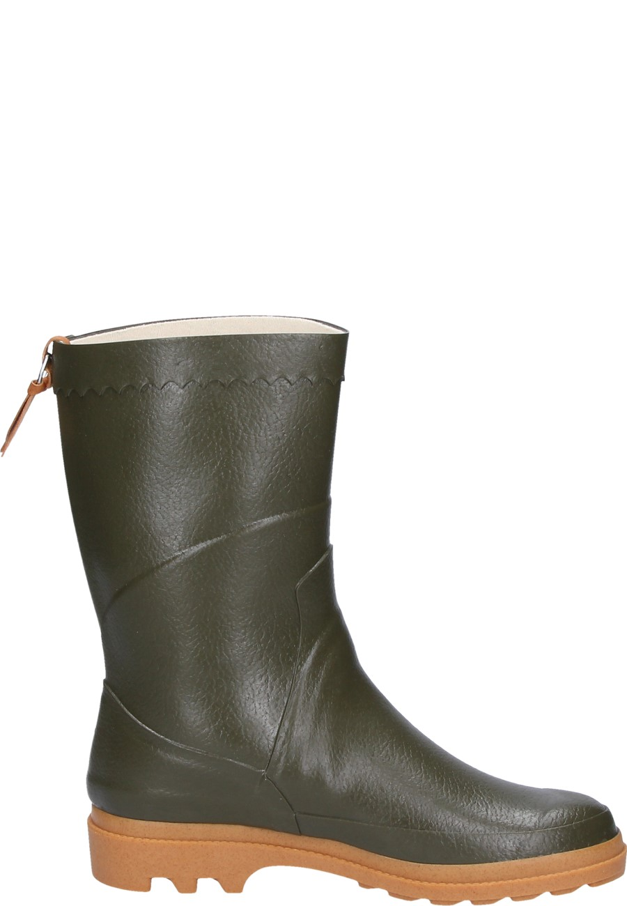 Aigle Bison Khaki Rubber Boots A Half Height Universal