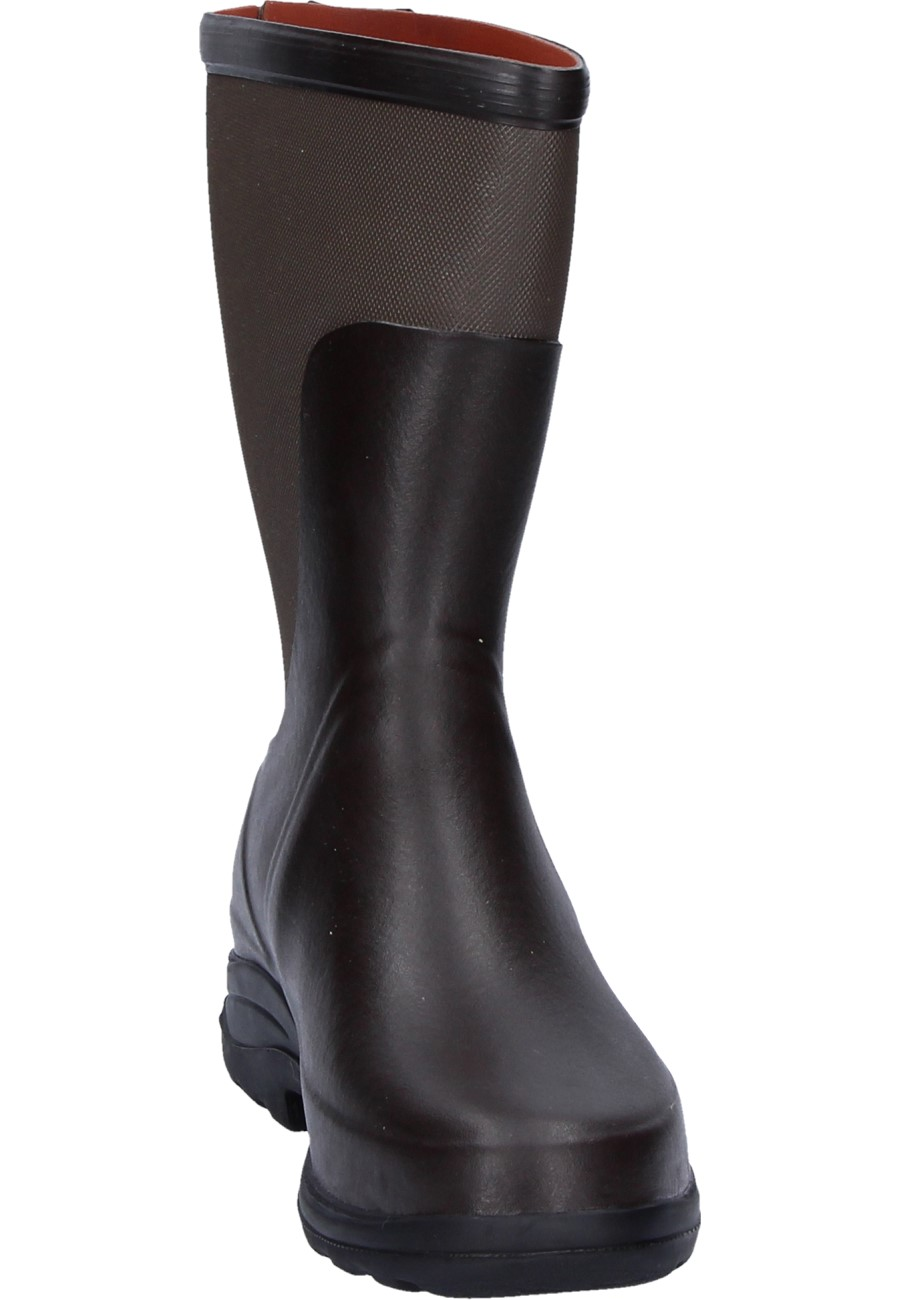 Aigle Rboot Bottillon Brown Taupe Rubber Boots Elegant
