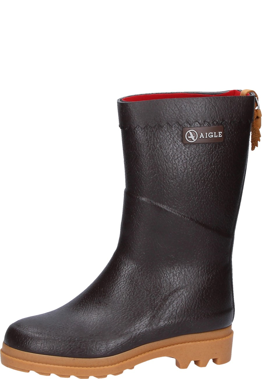 Aigle BISON ISO brun rubber boot