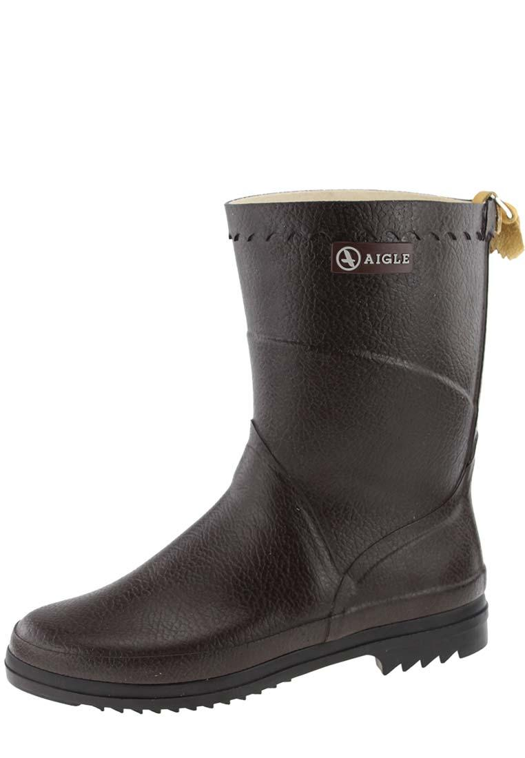 aigle bison lady brown rubber boots a half height universal women s natural rubber boot. Black Bedroom Furniture Sets. Home Design Ideas