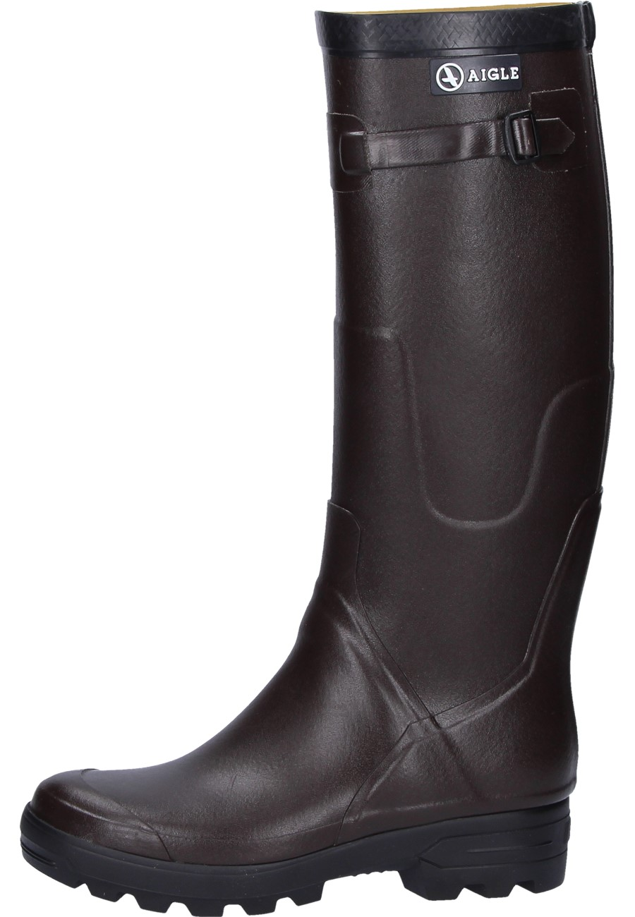 Aigle Benyl M Brown Rubber Boots An Aigle Wellington
