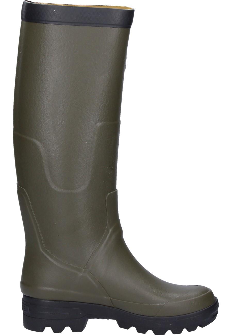 Aigle Benyl M Kaki Rubber Boots An Aigle Wellington
