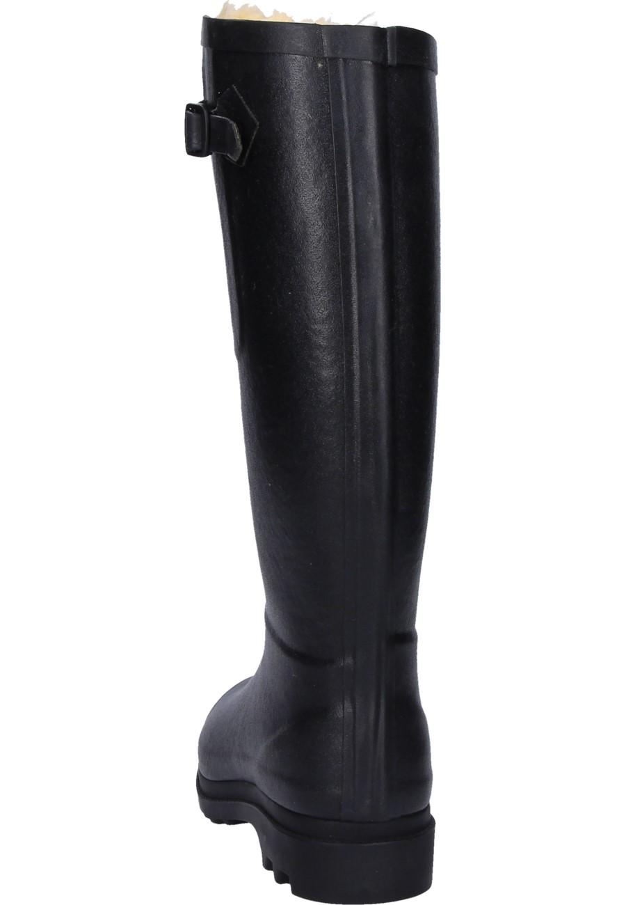 AIGLENTINE FUR black Winter Rubber Boots by Aigle