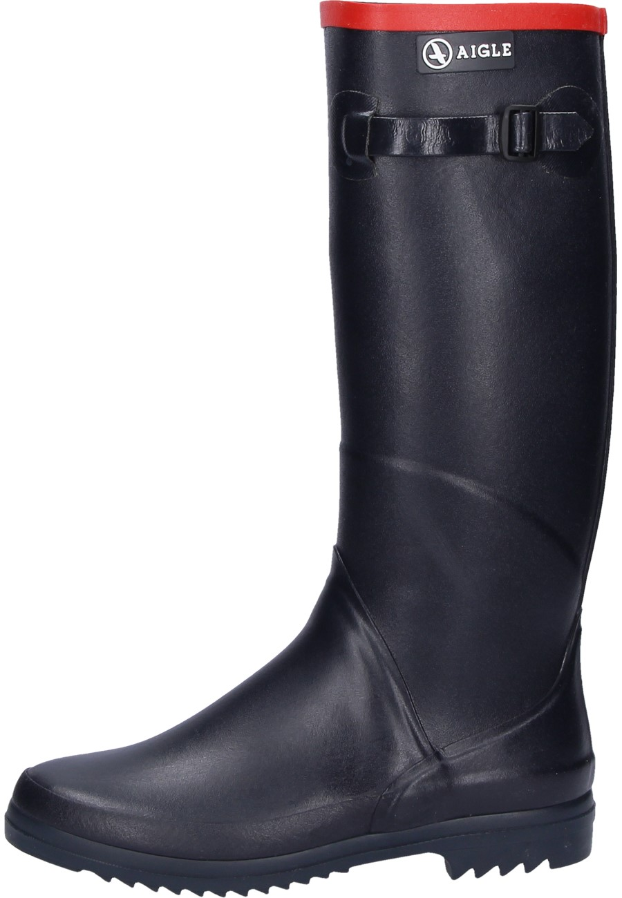 7ed07423a02ce Aigle -Chantebelle marine- Rubber Boots - a ladies Wellington boot with  calf-hugging shaft