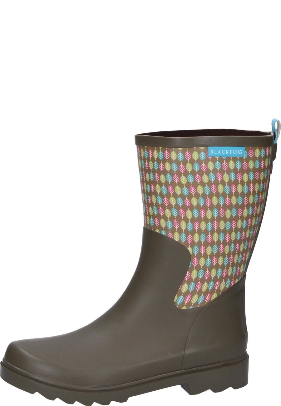 844a9df707b Womens' rubber boot Demi Botte Zoé marron by Blackfox
