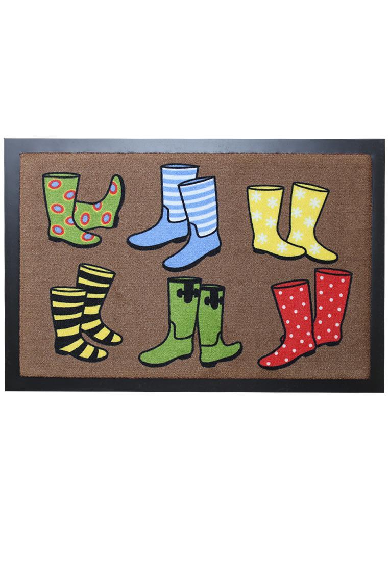Akzente boots decorative doormat in colourful wellington for Akzente design