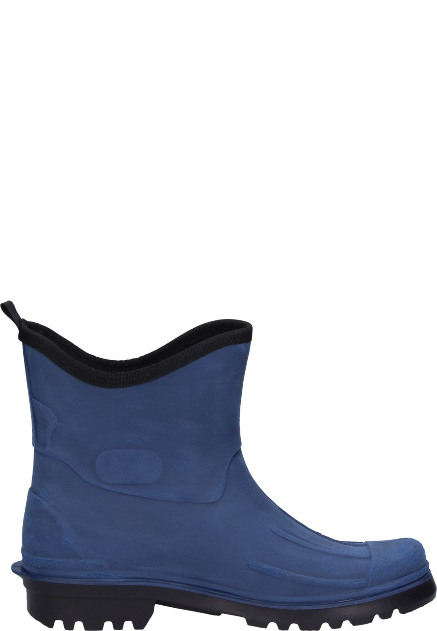 Mens Ankle Rubber Boots Lutz Blue By Bockstiegel