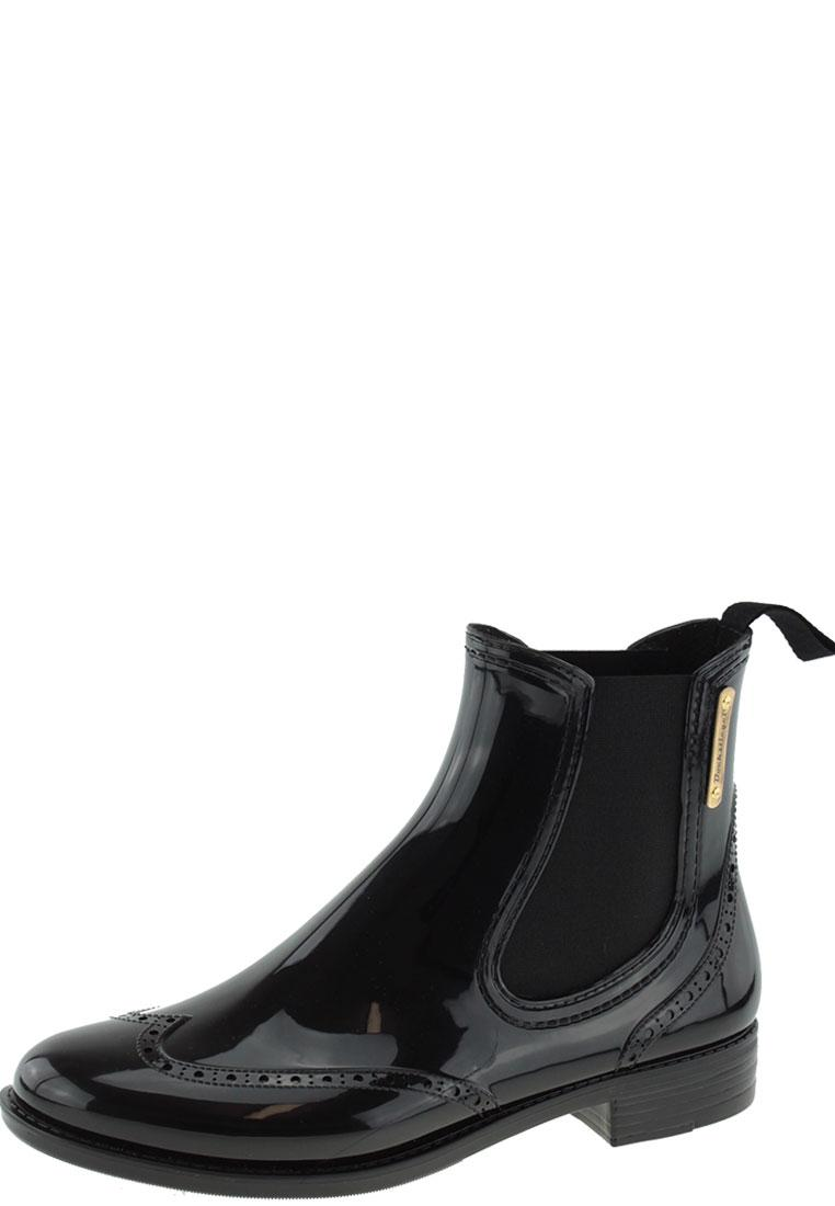 Chelsea Black Fashionable Ankle Rain Boots By Bockstiegel