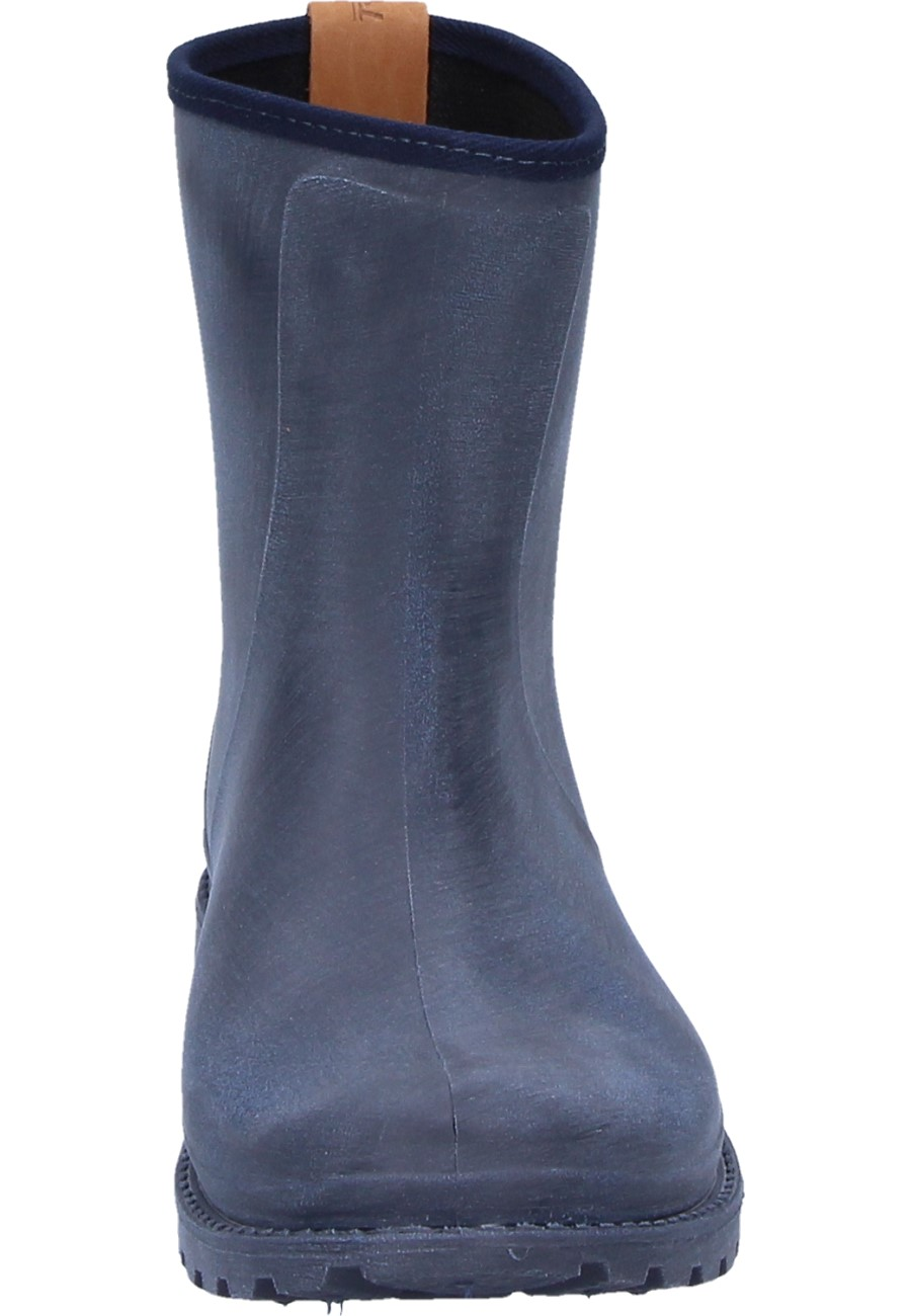 Fashionable Blue Katharina Ankle Rubber Boot By Bockstiegel