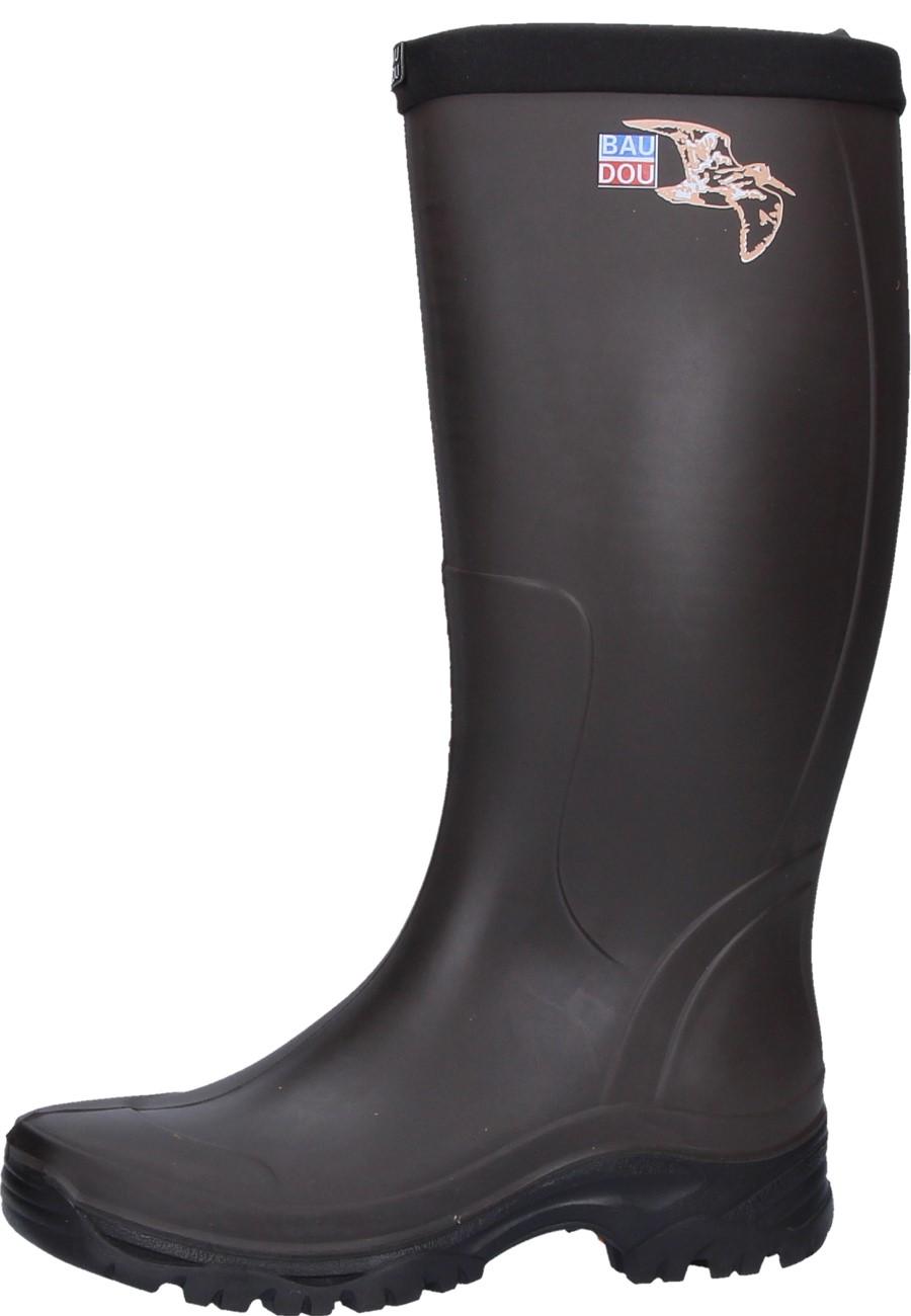 baudo atom marron rubber boots