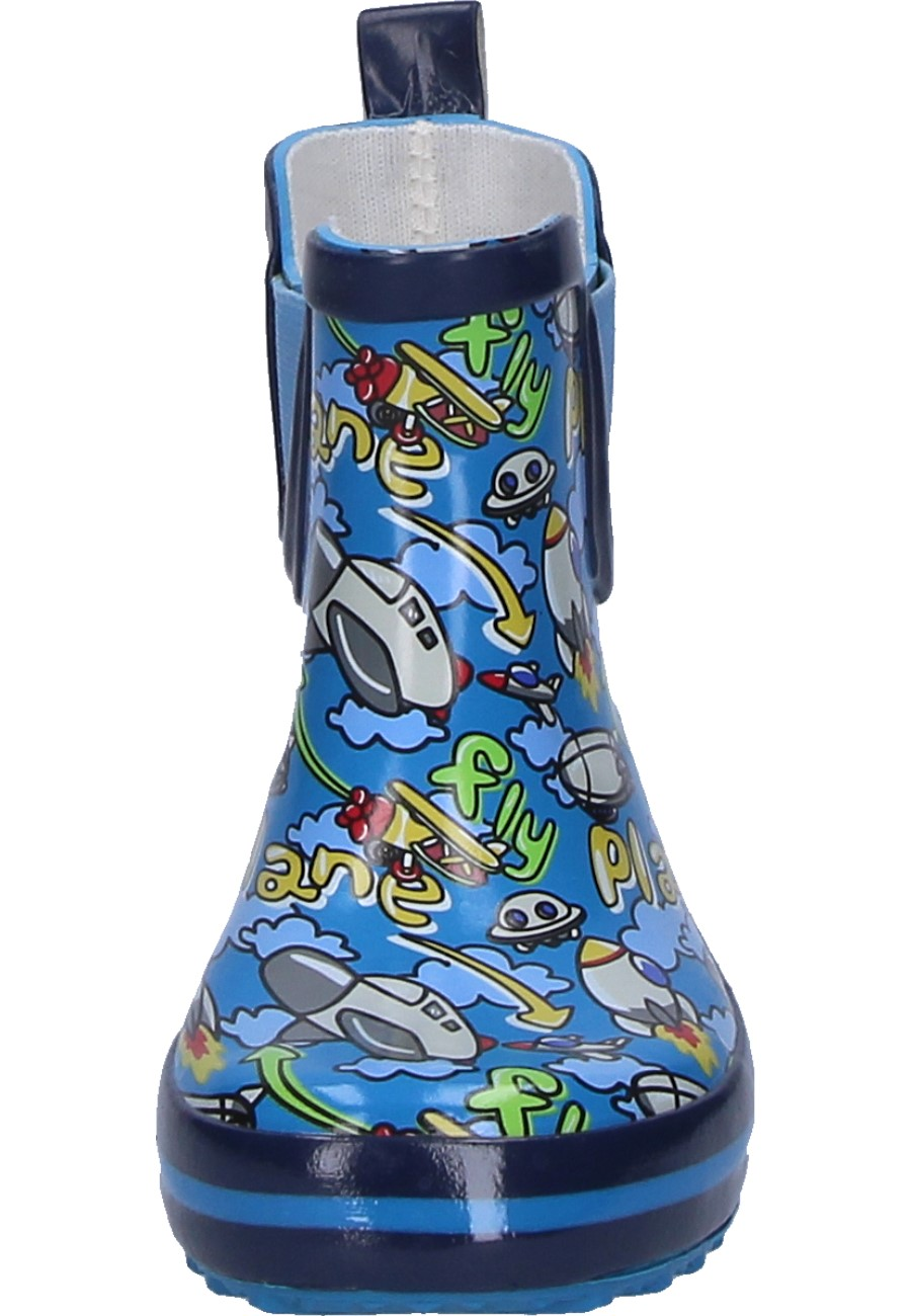 Plane Blue Children S Ankle Rubber Boots By Beck