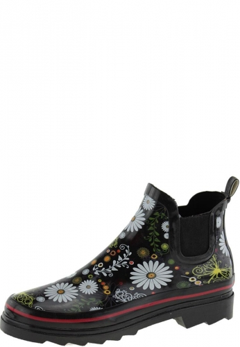 Daisy Black Women S Ankle Rubber Boots By Beck