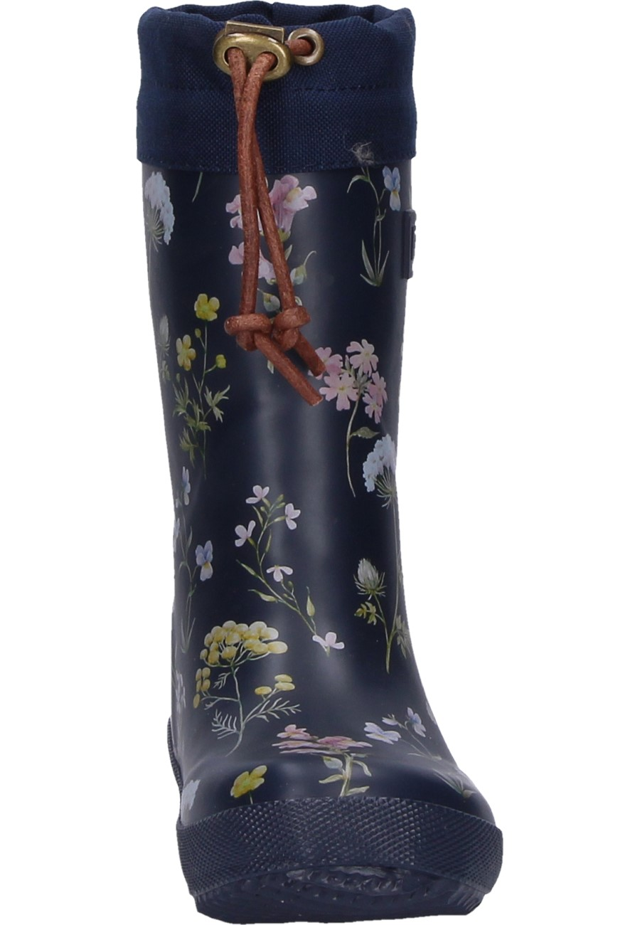 Children S Rubber Boots Winter Thermo Flower In Black Of