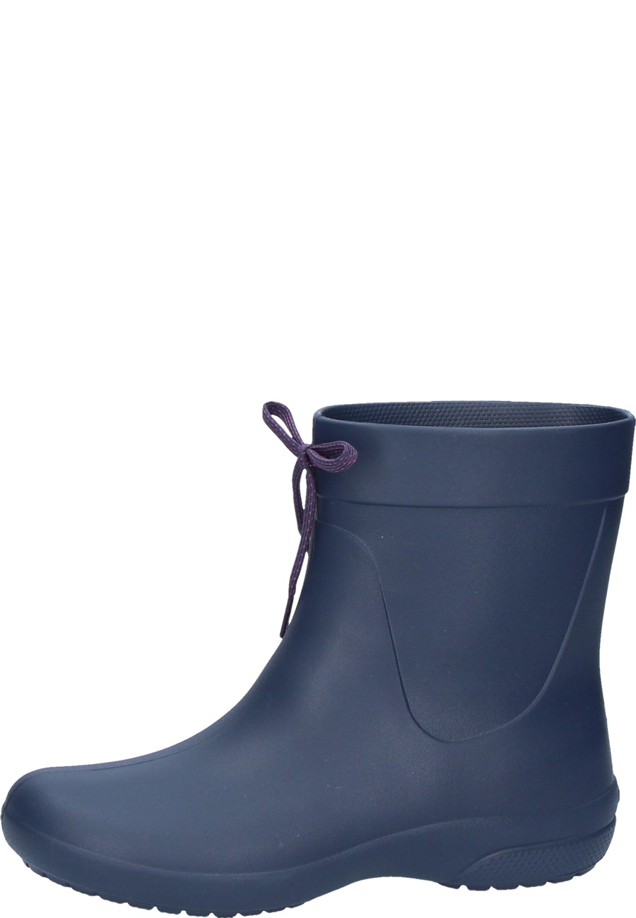 cf806c064aabd CROCS FREESAIL SHORTY RAINBOOT navy wellington boots for women by Crocs