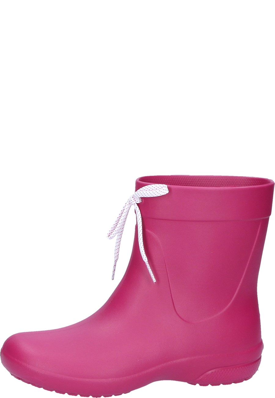 CROCS FREESAIL SHORTY RAINBOOT berry wellington boots for women by Crocs 682c9bb8dc