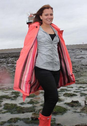 Happyrainydays Colette Plus Coral Trenchcoat Rain Coat