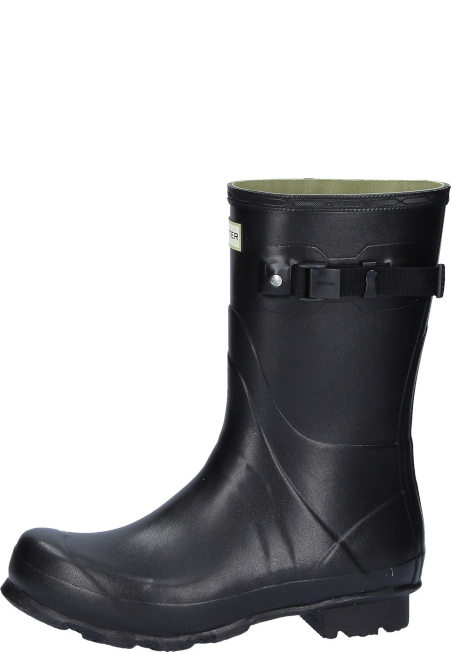 Mens Norris Field Short Black Wellington Boots For Men By