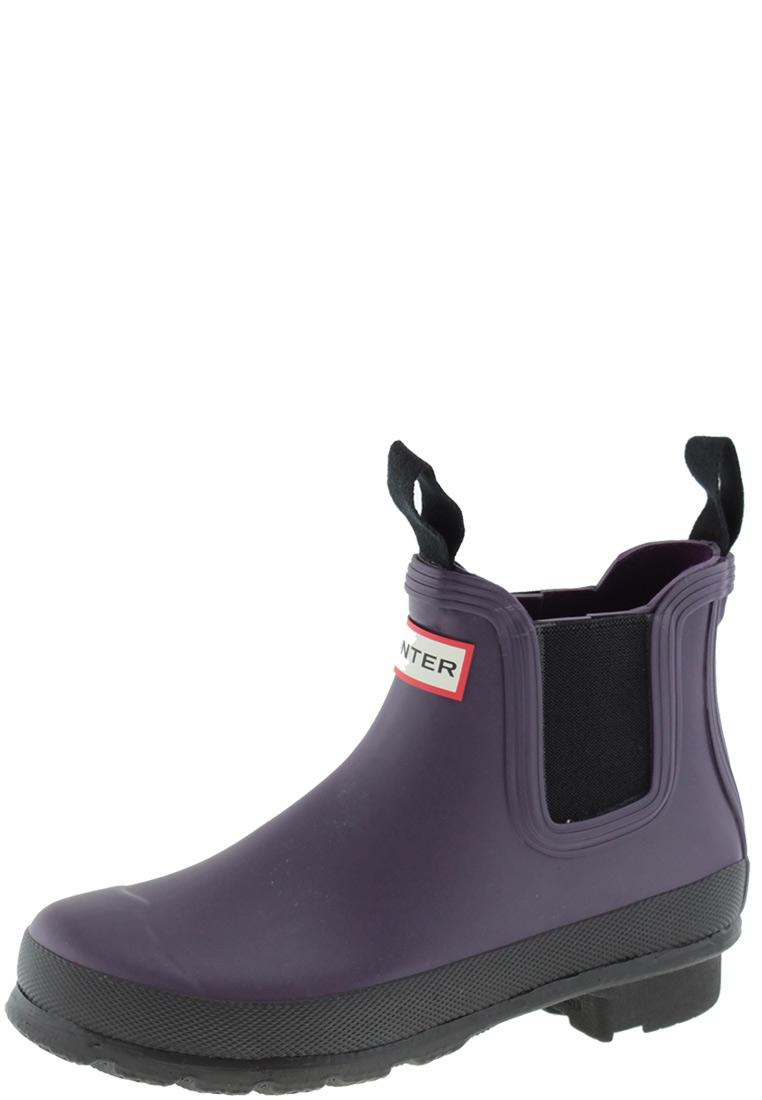 timeless design bbacd b53d1 Hunter Women's Original Two Tone Chelsea Boots dark plum