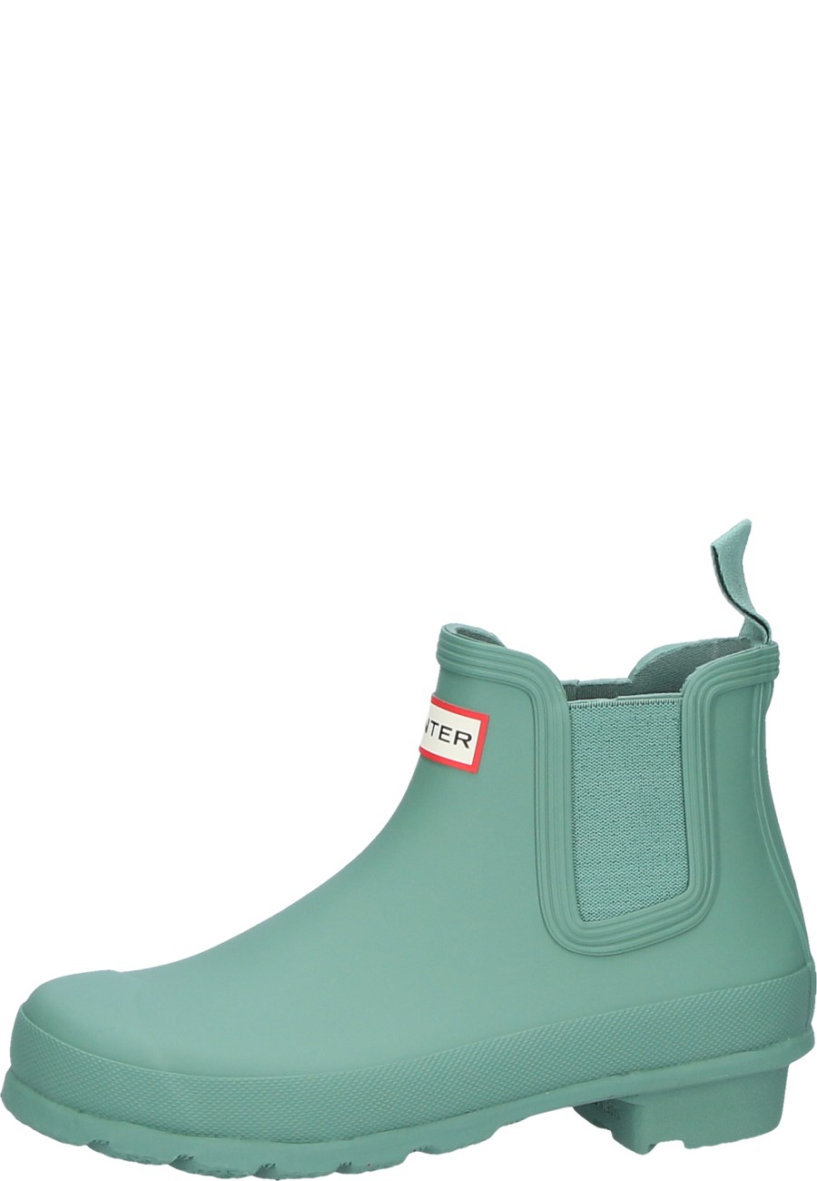 Wellington Boots WOMENS ORIGINAL ORIGINAL CHELSEA ONE TAB by Hunter succulent green