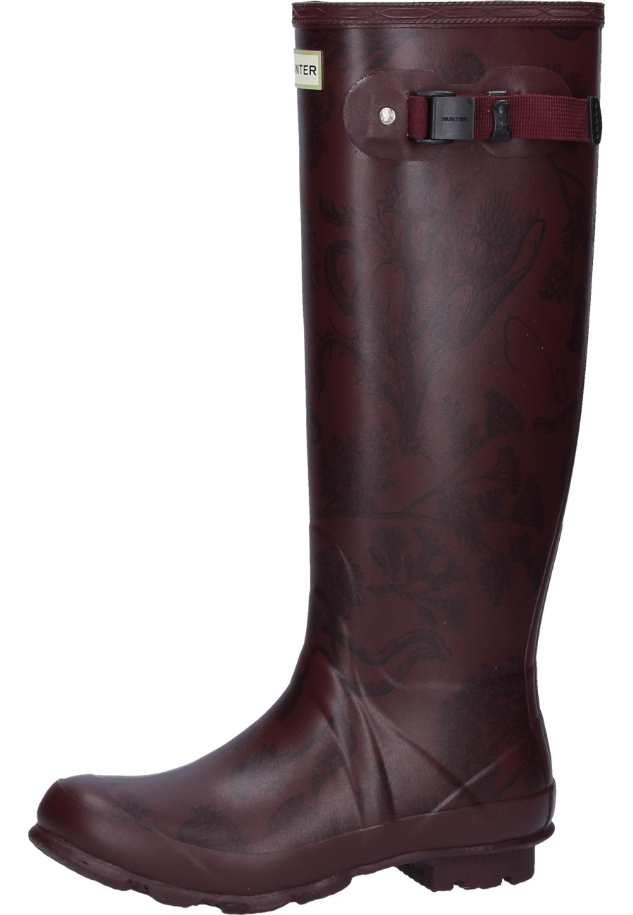Wellington Boots NORRIS FIELD PRINTED BOOT burgundy by Hunter