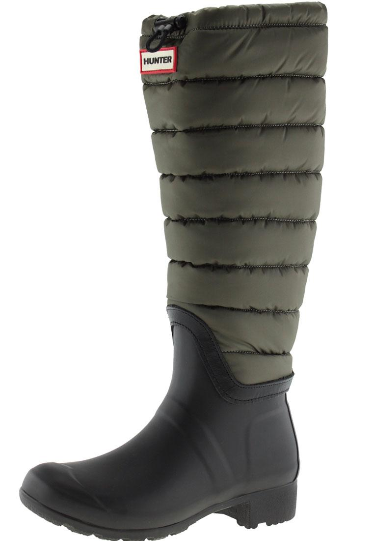 Womens Original Tall Quilted Leg Wellington boots by Hunter