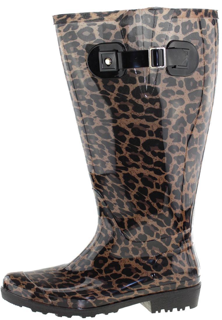 ca0fe2f2e29c Wide Wellies Beige Leopard XXL Wellington boots with Wide Shaft