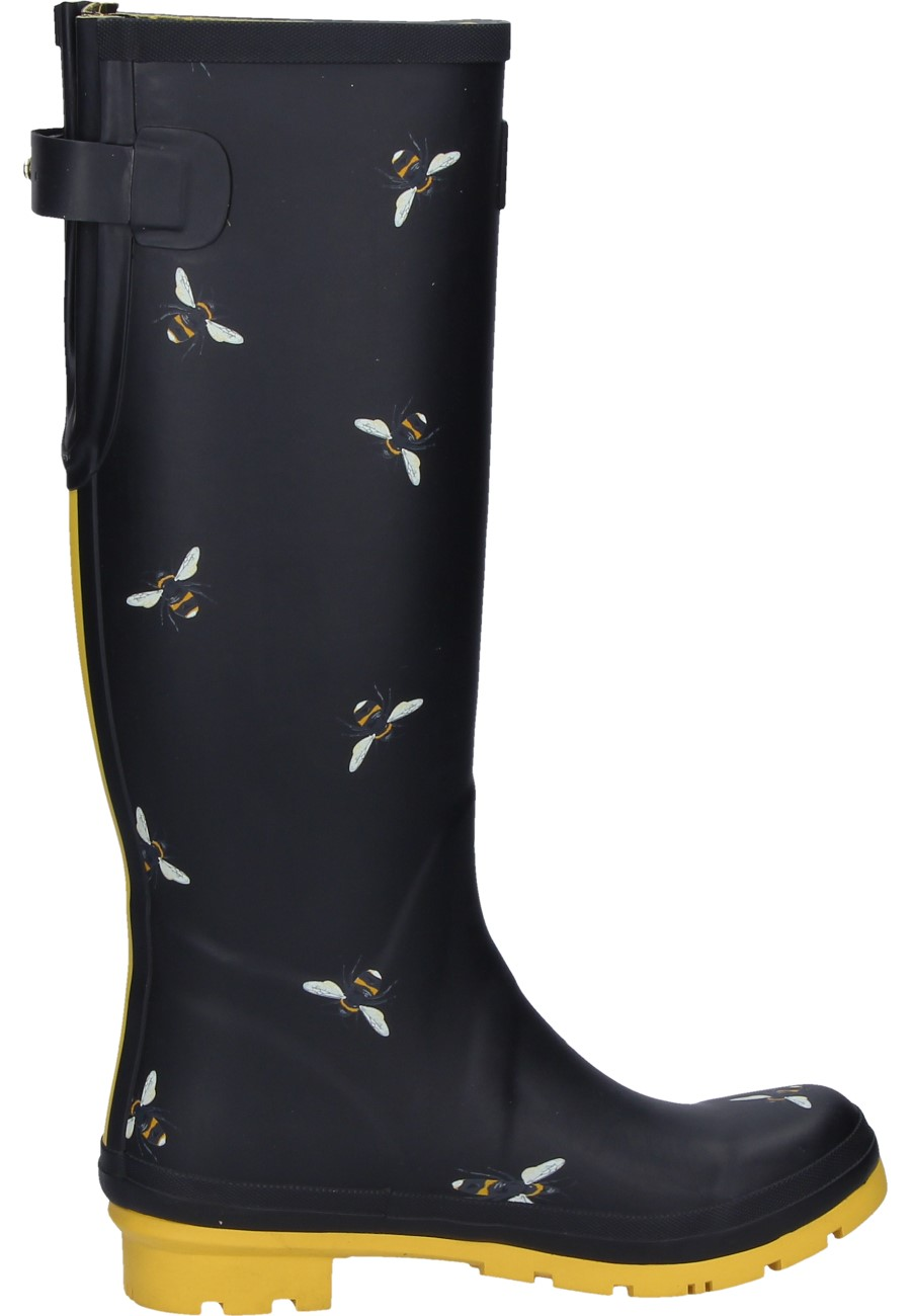 Wellingtons Botanical Bees In Black For Women Of The