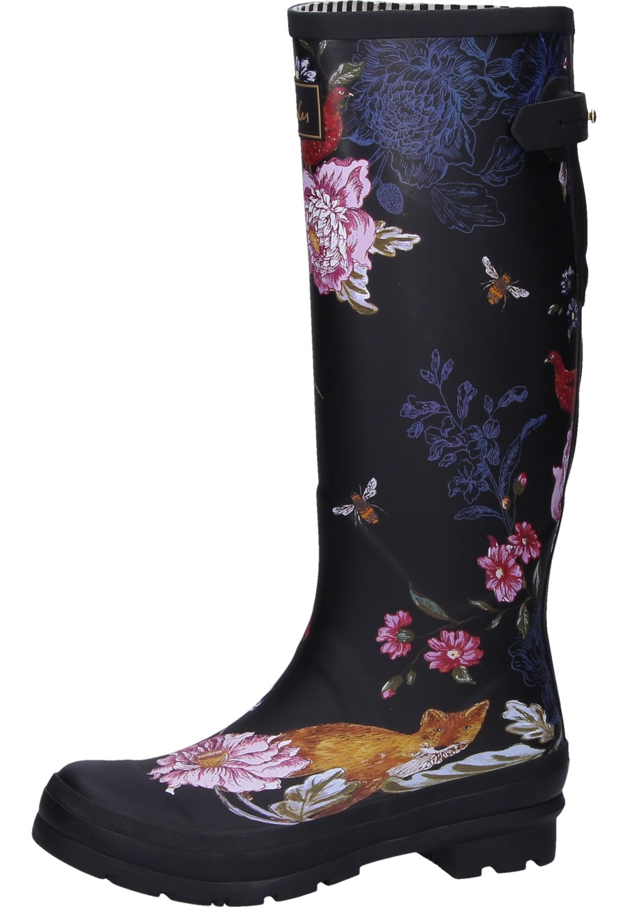 Women S Rain Boots Black Woodland Floral In Black Of The
