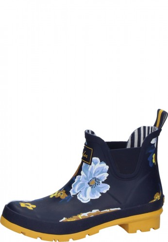 aliexpress cheapest authentic quality Joules women's rubber ankle boots NAVY BOTANICAL blue