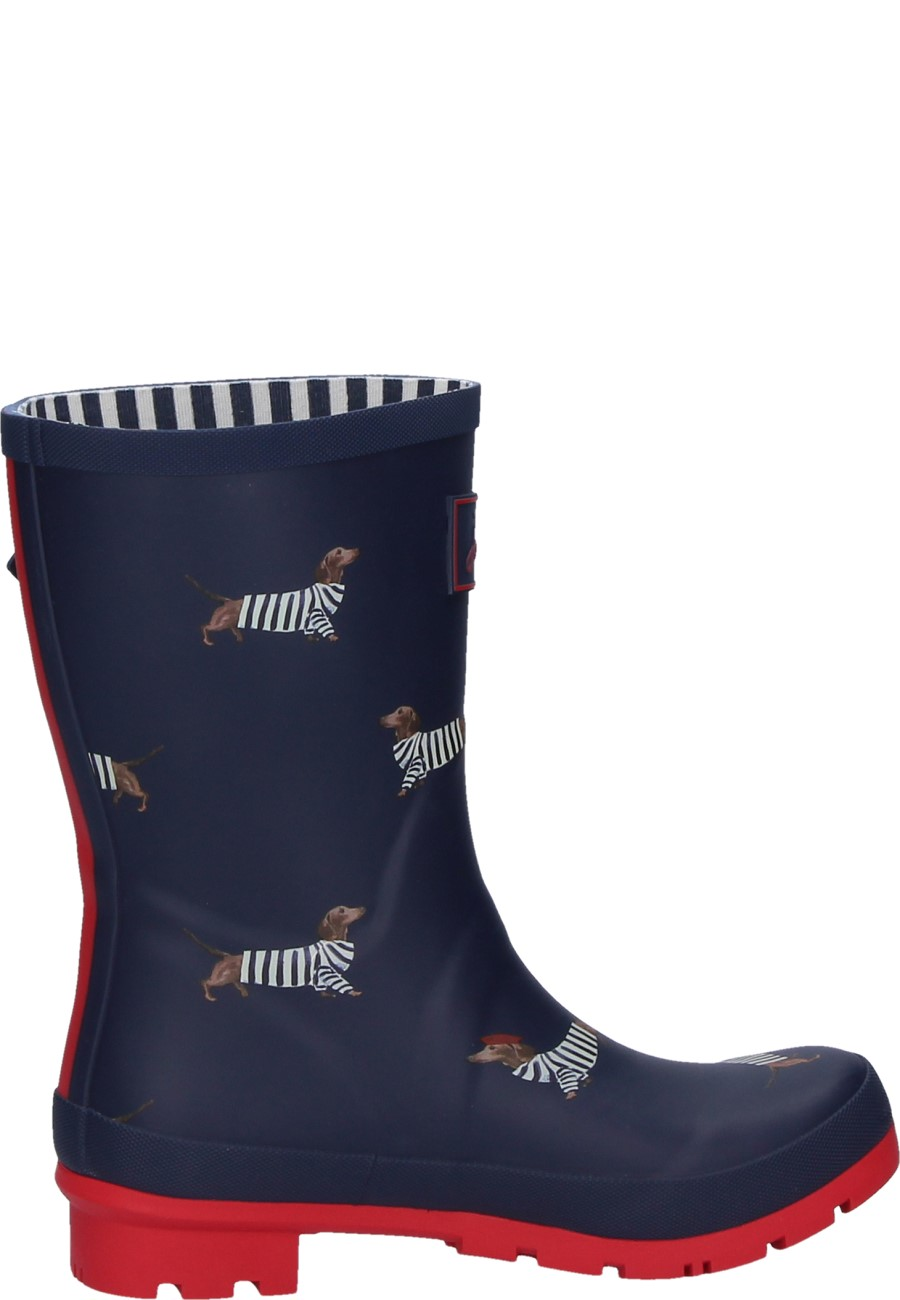 Mid Height Wellies French Navy Dachshund For Women Of Joules