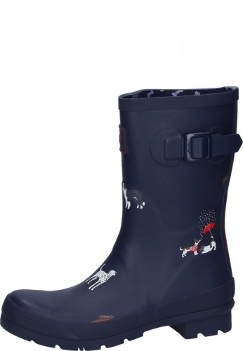 6b3b6bcb3904 Short women s boots out of rubber Navy Dogs of Joules