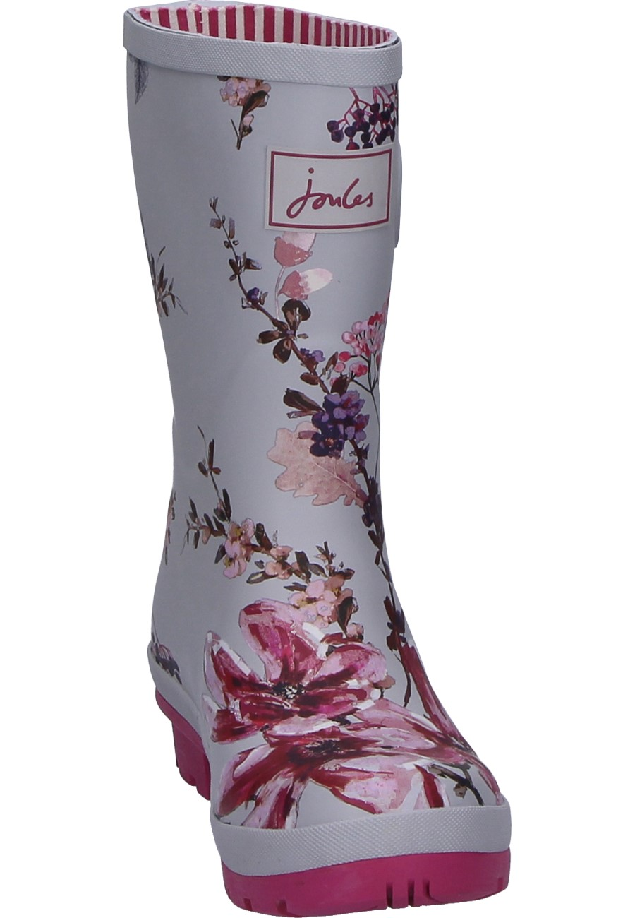Half Height Women S Rain Boots Silver Harvest Floral Of Joules